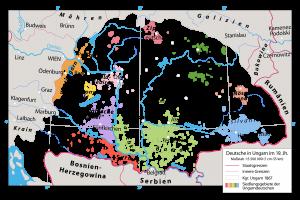Die deutschen Siedlungsgebiete