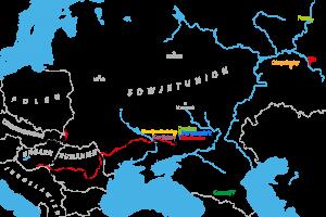 Karte über die Verschleppung